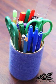 ♥ Garden of life ♥: Zorganizuj się: organizer na biurko DIY