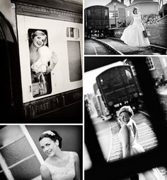 Vintage Bridal Shoot at Kidderminster Station, by photographers Aston & Ainsworth Photography