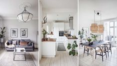 Luksus på budget | Femina Dining Nook, Kitchen Dining, Dining Table, Living Room On A Budget, Cozy Living Rooms, Studio Mcgee, Apartment Therapy, Great Rooms, Furniture