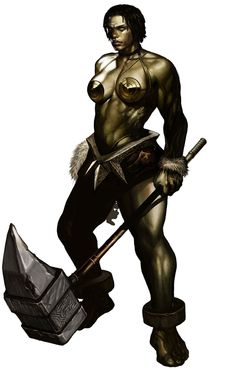 Orc Female & Hammer, Lineage II