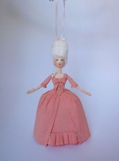 Spun Cotton Marie Antoinette Christmas Ornament by ArtByJessercat