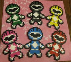 Power Rangers perler beads by Tamara G