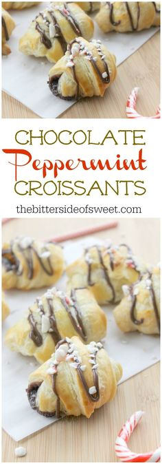 Chocolate Peppermint Croissants | The Bitter Side of Sweet
