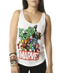 Marvel Lace Back Tank - Comic Trend at Wet Seal