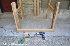 how to build an elevated garden bed table 7