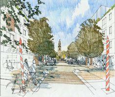 Richard Carman - Architectural Illustrator - St Pauls, Bristol