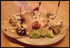 Short Rib, Pollo Verde and Fish Tacos at Bakersfield OTR