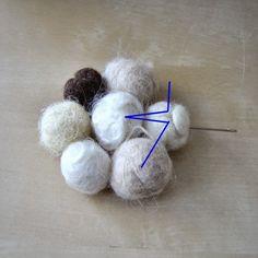 Πώς να φτιάξετε μόνοι σας ένα εκπληκτικό χαλάκι απο μάλλινα μπαλάκια - Pinochio rug!