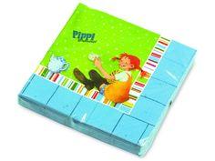 Pippi Langstrumpf Servietten für eine perfekte Pippi Langstrumpf Party (Pippi Longstocking Party)