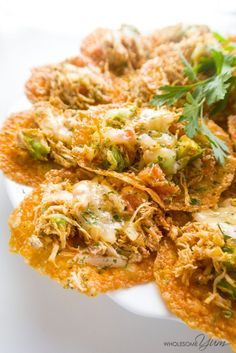 Spicy Chicken Cheddar Nachos (Low Carb, Gluten-free)   Wholesome Yum - Natural…