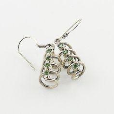 Peridot Sterling Silver Spiral Earrings