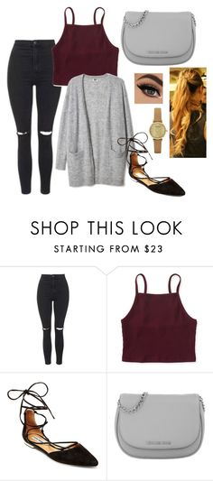 """Untitled #79"" by maaria001 ❤ liked on Polyvore featuring Topshop, Aéropostale, Steve Madden, Michael Kors and Emporio Armani"