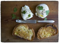 garlic-rubbed toast and luscious burrata, both drizzled with really good Italian extra-virgin olive oil and sprinkled with Maldon salt and coarsely ground black pepper