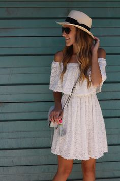 Lace off the shoulder dress - Twenties Girl Style