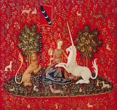 Scarlet Quince cross stitch chart: Lady with Unicorn: Sense of Sight
