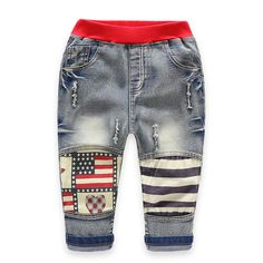 >> Click to Buy << 2017 Brand New Boys Ripped Jeans 3-10T Cotton Pantalon Hiver Garcon Elastic Waist Jeans Garcon Soft Denim Infantil Menino Jungen #Affiliate