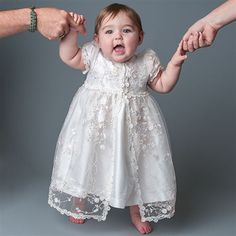Scarlett Silk Christening Dress