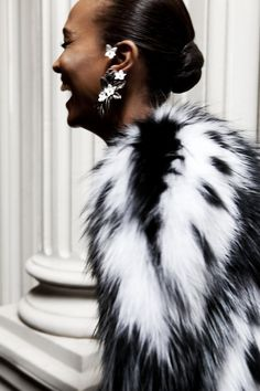 Liya Kebede  *I don't own much fur other than faux.  I still like the look of fur...