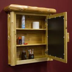 Cedar Lake Log Medicine Cabinet