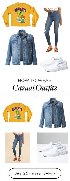 """Casual"" by yocelinm on Polyvore featuring Hollister Co., Forever 21, Vans and LE3NO"