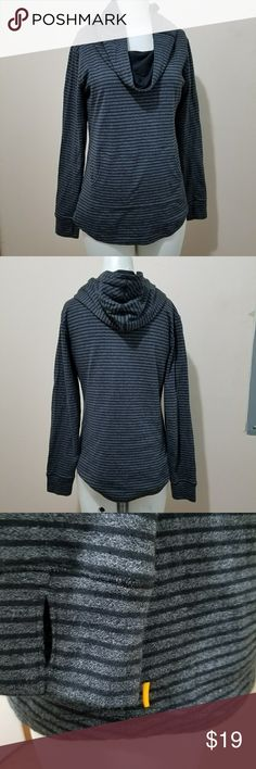 """Lucy Cowl neck Hoodie Shirt Size Small Great condition Has thumb holes  Drape neck with a hood  Rounded hemline 19"""" across chest,  23"""" long Lucy Tops Sweatshirts & Hoodies"""