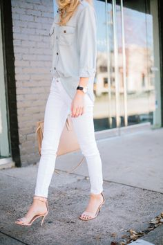 White denim is a classic and timeless look, freshening everything up and creating a great canvas for other colors