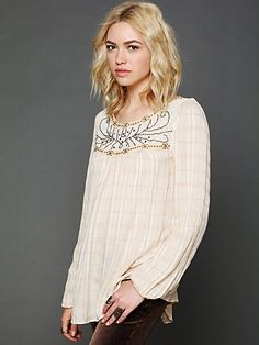 Free People Balkan Dreams Woven Top at Free People Clothing Boutique