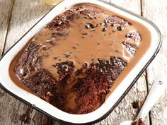 Because everything is better with chocolate… Myriam Barendse from Westenburg, Polokwane,. Yummy Treats, Sweet Treats, Yummy Food, Malva Pudding, South African Recipes, Pudding Desserts, Chocolate Pudding, Something Sweet, Puddings