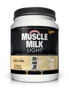 Muscle Milk Light - has more calories than the herbalife / derbalife stuff but it also has more nutrients and is cheaper. I mix it with Blue Diamond unsweetened almond milk and Silk light chocolate.