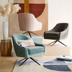 A price conscious great looking option? Roar + Rabbit Swivel Chair   west elm