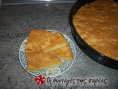 Cheese pie without filo from Epirus Greek Sweets, Cheese Pies, Greek Cooking, Vegetarian Cheese, Greek Recipes, Tray Bakes, Tapas, Appetizers, Cooking Recipes