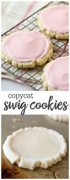 Copycat Swig Cookies recipe - one of the best frosted sugar cookies ever!