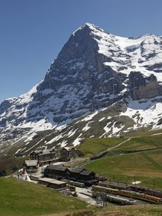 Kleine Scheidegg and Eiger Near Grindelwald, Bernese Oberland, Swiss Alps, Switzerland