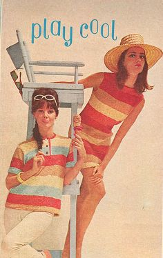 Summer fashions in McCall's, 60s And 70s Fashion, Retro Fashion, Vintage Fashion, 1960s Outfits, Vintage Outfits, Vintage Clothing, Vintage Colors, Retro Vintage, Nostalgic Images