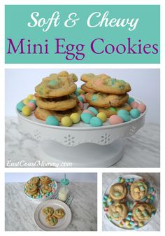 East Coast Mommy: Soft and Chewy MINI EGG Cookies recipes dessert recipes dessert brunch recipes dessert cake recipes dessert easy recipes dessert kids recipes dessert video No Egg Cookie Recipe, Easter Cookie Recipes, Favorite Cookie Recipe, Easter Desserts, Easter Treats, Mini Eggs Cookies, Easter Cookies, Mini Eggs Cake, Cookies Soft