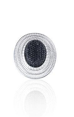 oval caviar bead ring