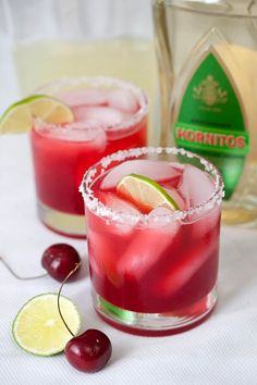 Fresh Cherry Margaritas