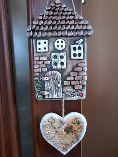 Clay Projects, Clay Crafts, Rustic Shabby Chic, Salt Dough, Clay Art, Ceramic Art, Art Pictures, Decoupage, Polymer Clay