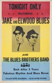 For one night only.Jack and Elwood Blues and The Blues Brothers Band! Blues Brothers Band, Light Camera, Rhythm And Blues, Time Capsule, Music Notes, First Night, Singer, Memes, Movie Posters