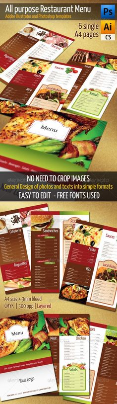 Restaurant-menu-templates-vector Graphic design l Графический - free downloadable restaurant menu templates