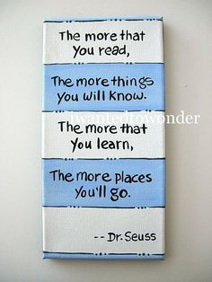 This is a perfect Dr. Seuss canvas for a reading corner/nook. If only I could find the real diy link for this pin..