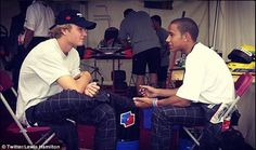"""""""We said we'd be champions back then, now we both are! Congratulations Nico, you did everything a champion needed to do. Well deserved."""" - Lewis Hamilton, 30 Nov 2016"""