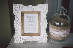 message in a bottle love note for the happy couple