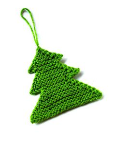 Knit Christmas Tree Ornament--- I made this!!  Super easy to follow