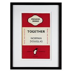 Buy Penguin Classics - Together by Norman Douglas Framed Print, 42 x 32cm Online at johnlewis.com