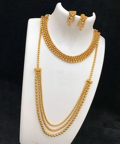 Antique Gold Finish Light Weight Long and Short Necklace Bollywood Women Jewelry Mens Gold Jewelry, Gold Jewelry Simple, Women Jewelry, Fashion Jewelry, Cheap Jewelry, Silver Jewelry, Gold Earrings Designs, Gold Jewellery Design, Necklace Designs