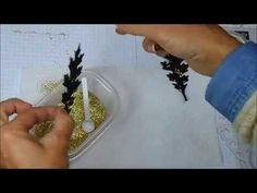Splattered Sparkle Technique - YouTube