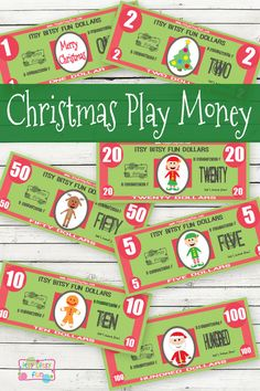 Free Printable Christmas Play Money for Kids