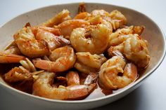 Slow-Cooker Garlicky Shrimp (w/out red pepper flakes), easy and yummu