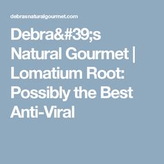 Debra's Natural Gourmet | Lomatium Root: Possibly the Best Anti-Viral